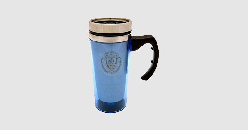 blue aluminium man city travel mug
