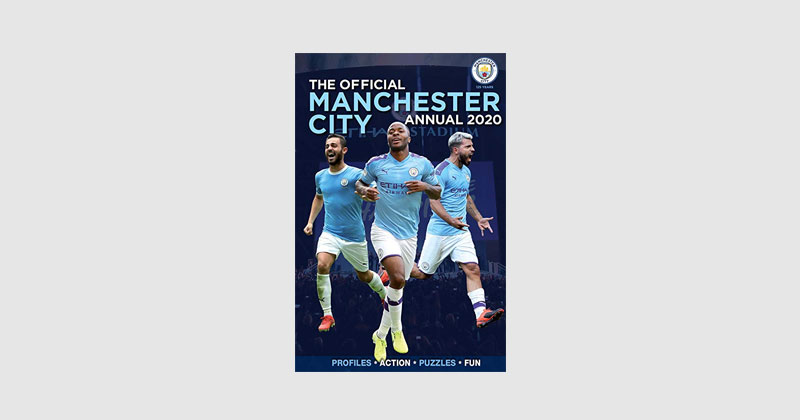 cover of the man city 2020 annual book