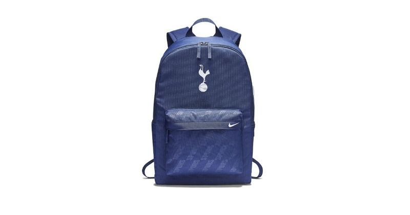 blue spurs backpack with club emblem and nike logo