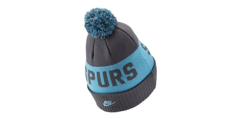 grey spurs beanie hat with spurs lettering and bobble