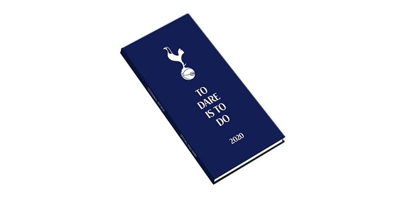 navy spurs diary with logo on the cover