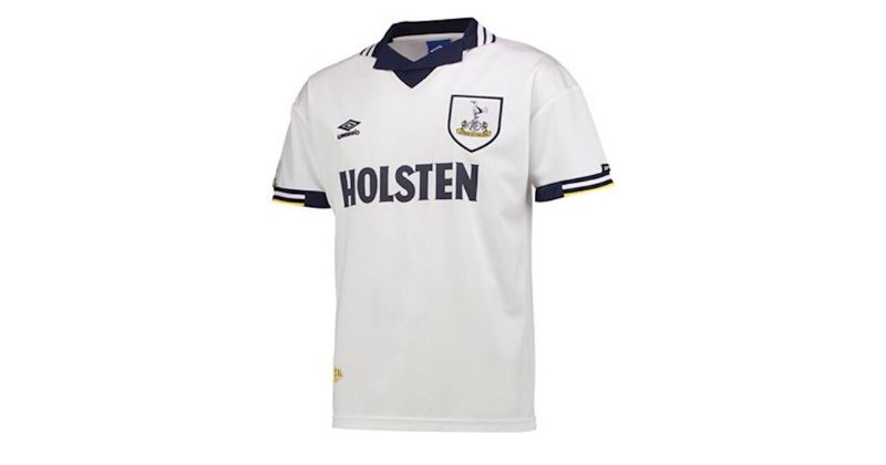 retro remake of a classic spurs home shirt from 1994