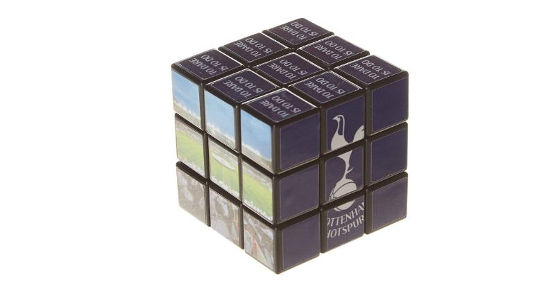 rubiks cube game featuring spurs crest