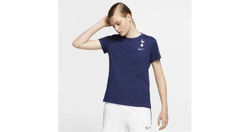 navy spus womens tshirt with club crest