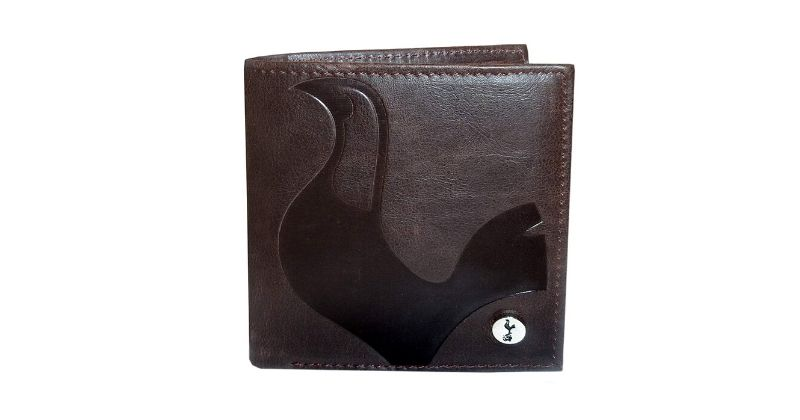 brown leather spurs wallet featuring club cest