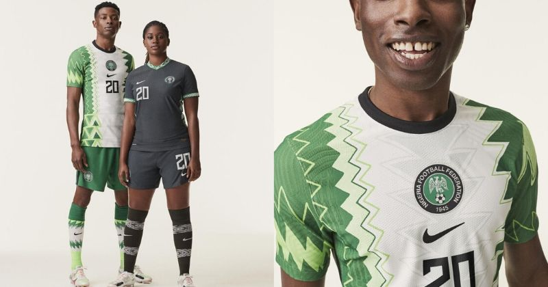 nigeria 2020 home shirt inspired by the traditional agbada robe