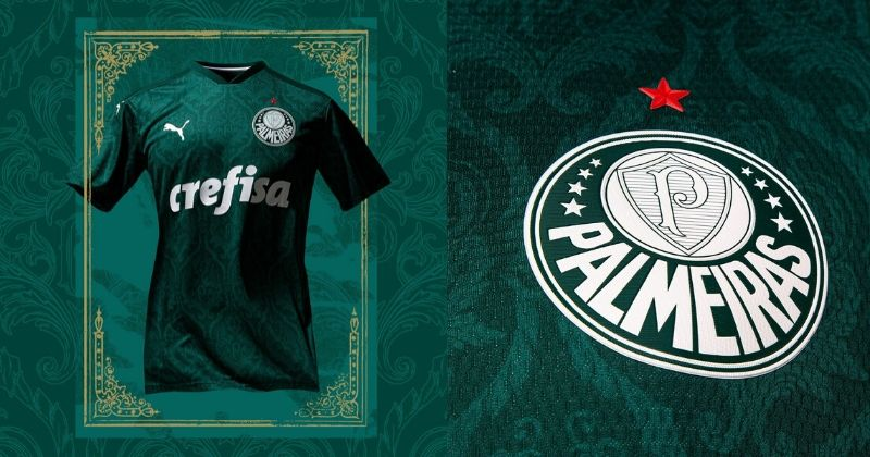green palmeiras 2020 home shirt with renaissance pattern