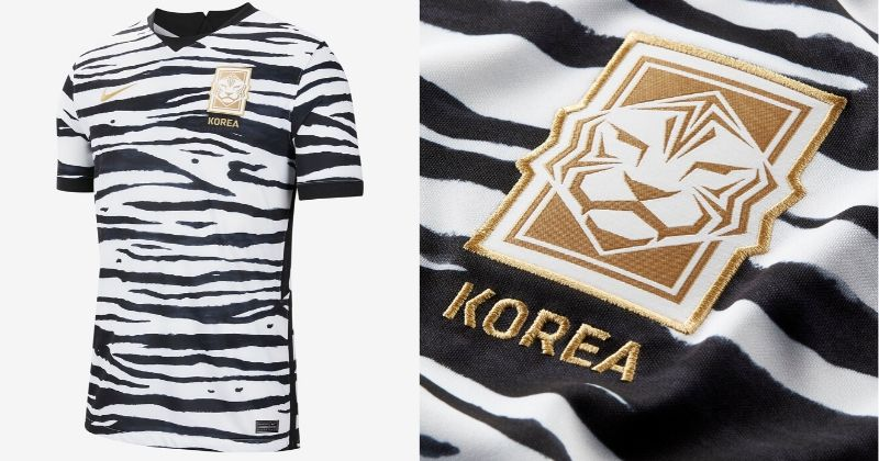 white tiger print south korea 2020 away shirt