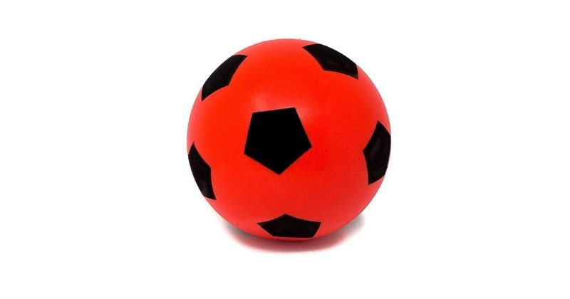 red and black soft foam football
