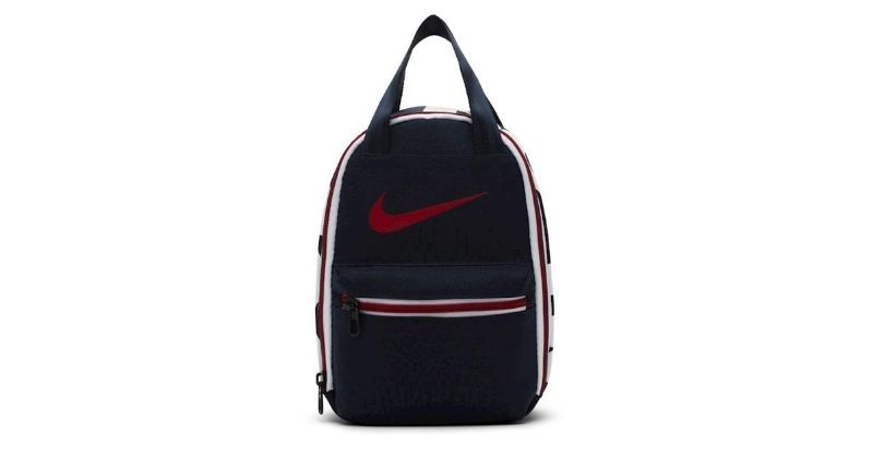 nike fuel lunch bag in blue on white background