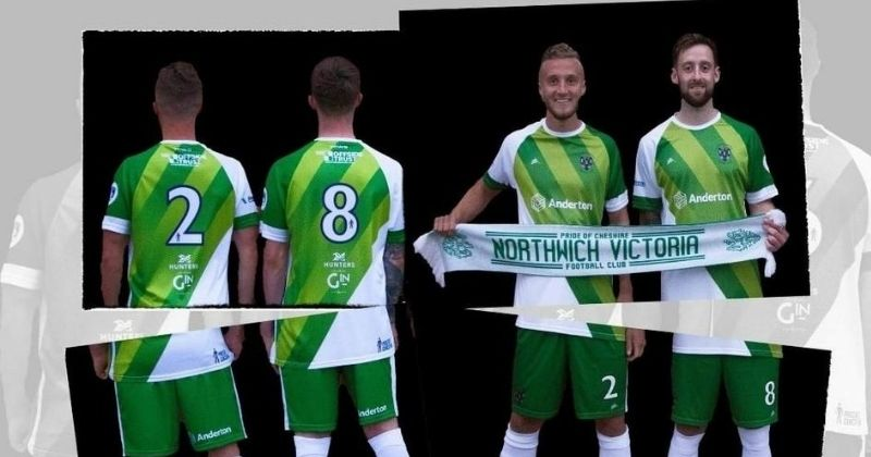 green sashed northwich victoria 2020-21 home kit