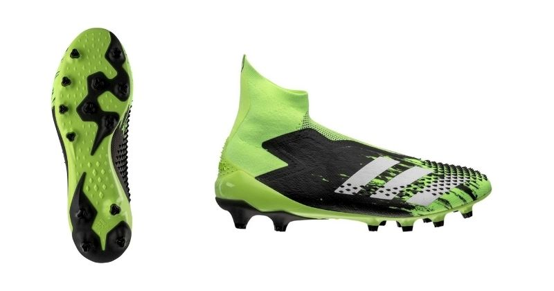 adidas predator 20 mutator football boot in lime green and black