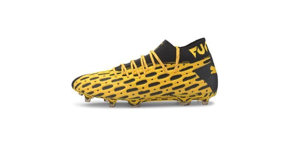 yellow and black puma future spark pack boots