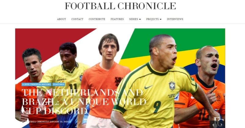 the football chronical website home page