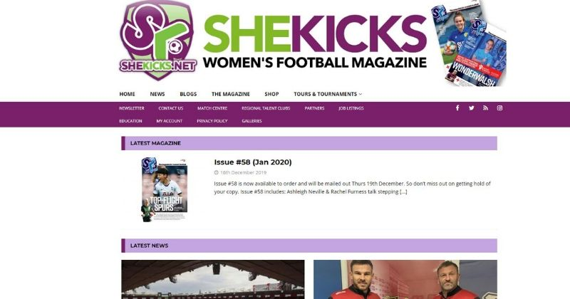 shekicks website screenshot
