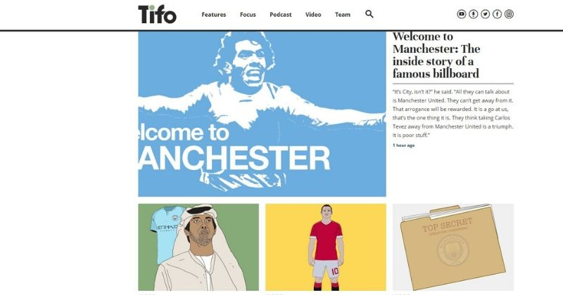 tifo football website home page