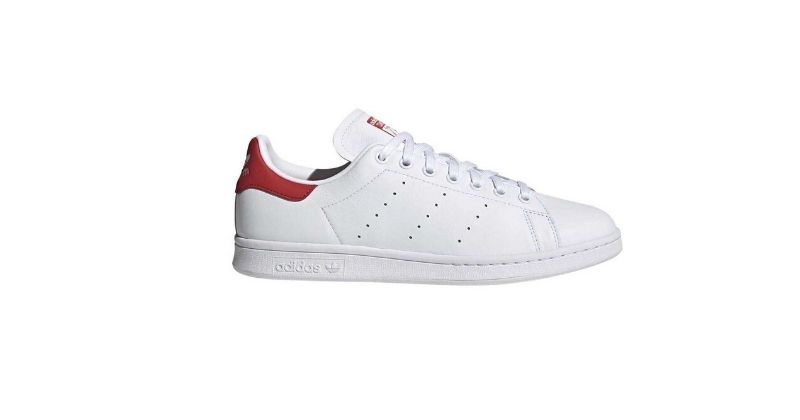 retro adidas stan smith trainers in classic white colours
