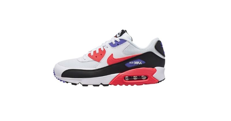 chunky nike air max 90 trainers with infrared colourway