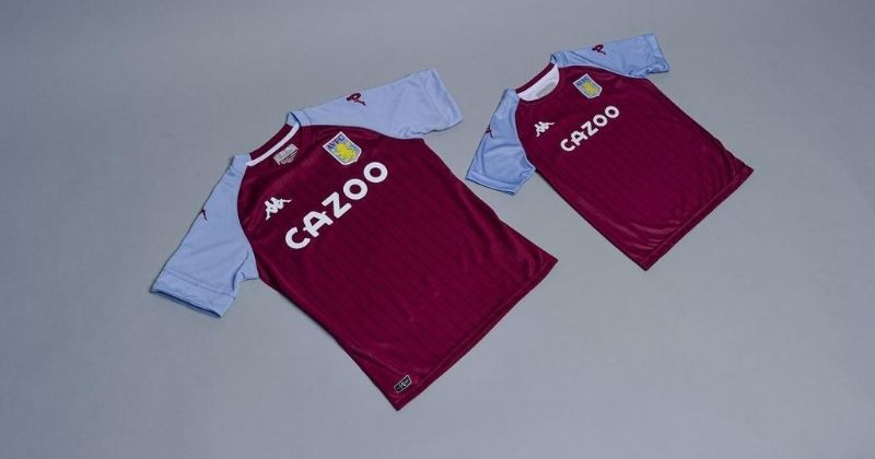 aston villa 2020-21 home shirt in both adult and kids' sizes