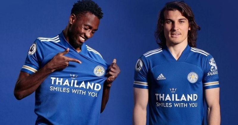 leicester city 2020-21 home kit worn by caglar soyuncu and wilfred ndidi