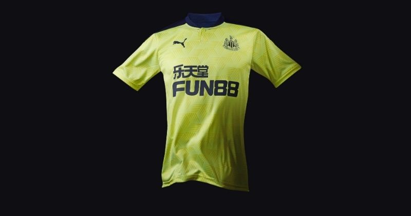 fizzy yellow newcastle united 2020-21 away shirt