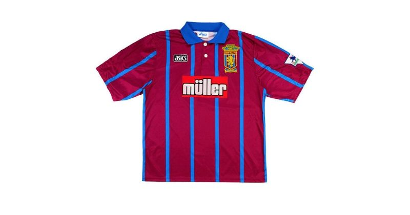 aston villa home shirt with muller sponsor