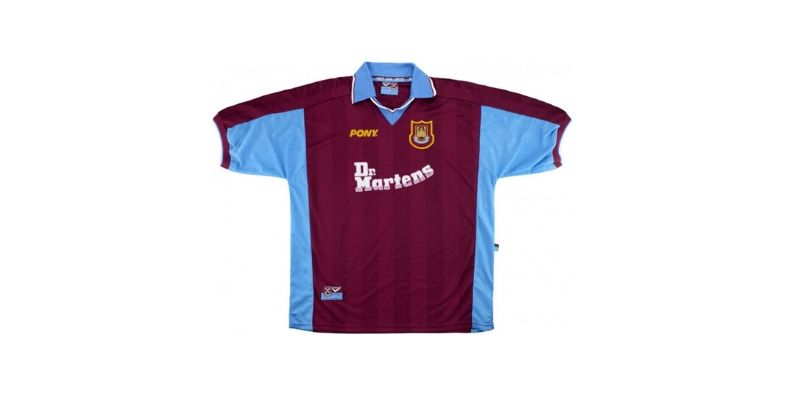 west ham home shirt with dr martens sponsor logo
