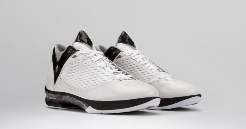 2009 Nike Air Jordan 24 2009 in white with black sole and detail on light background