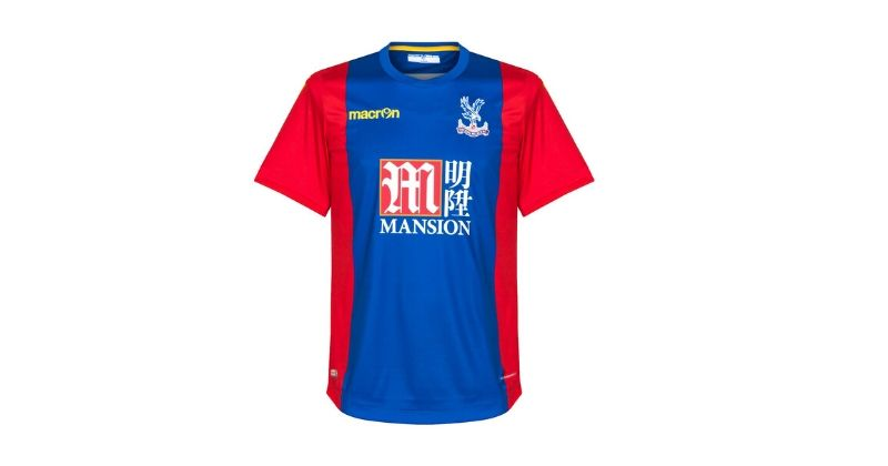 red and blue crystal palace home shirt from 2015/16