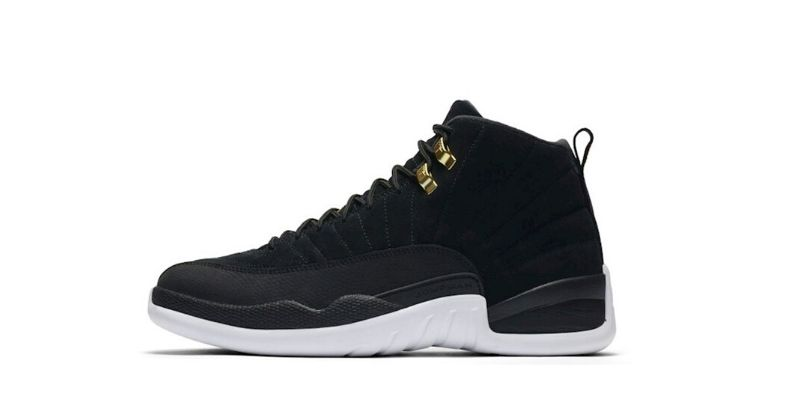 Nike Air Jordan XII 12 in black and white on white background