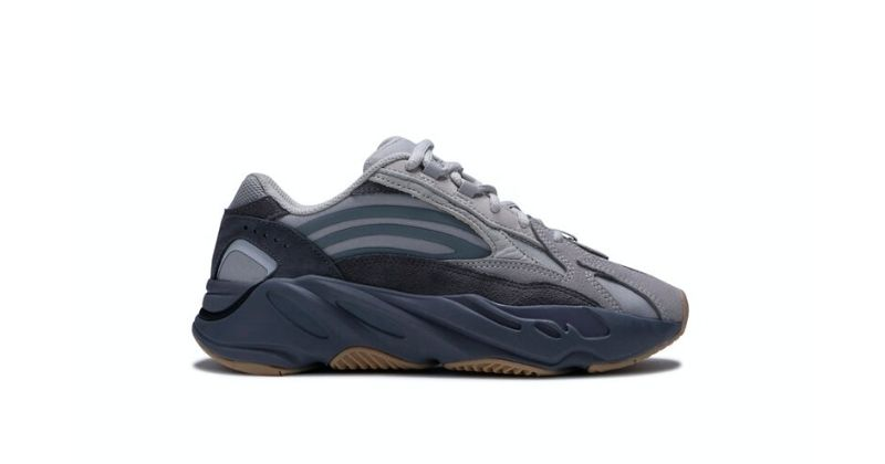 adidas Yeezy Boost 700 V2 in tephra grey on white background