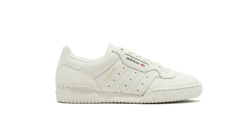 adidas Yeezy Powerphase Calabasas OG in white on white background