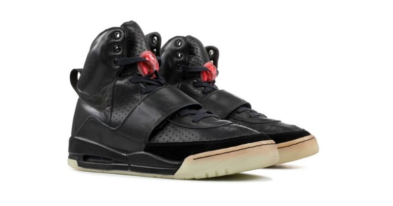 Nike Air Yeezy 1 Grammy Prototype in black on white background