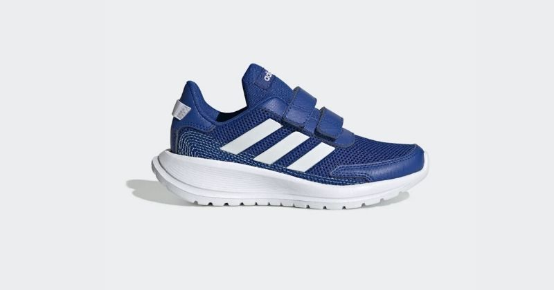 kids adidas tensor trainers in blue and white
