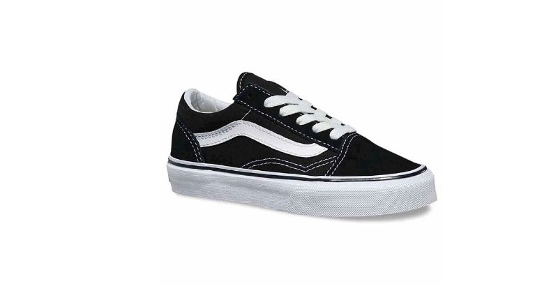 black and white vans old skool trainers for kids