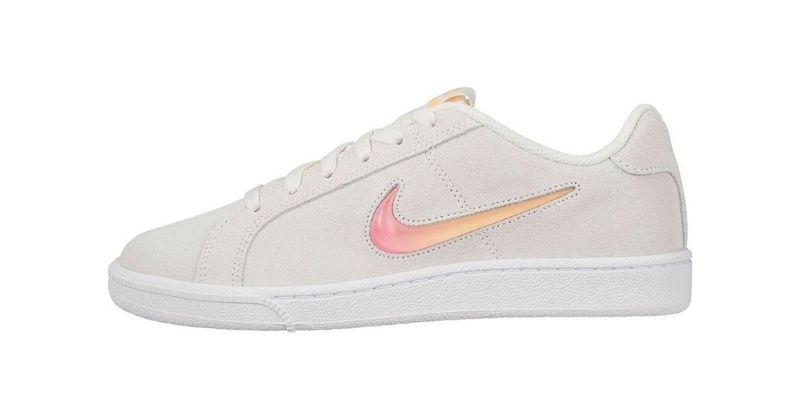 Nike Court Royale womens shoe in white with pink swoosh