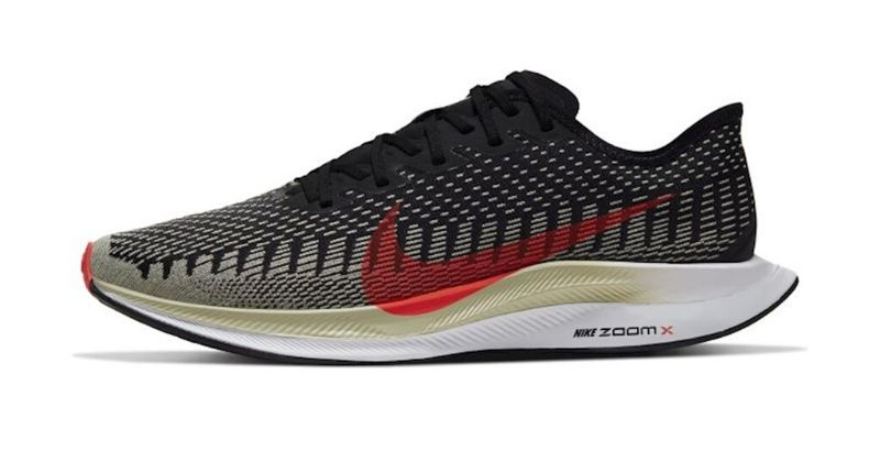 Nike Zoom Pegasus Turbo 2 mens trainer black with white sole