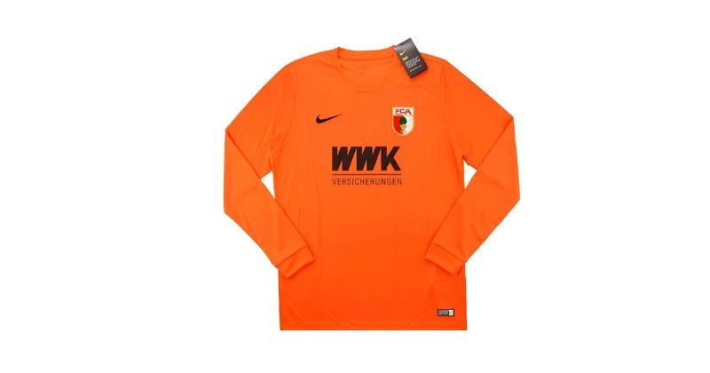 bright orange augsburg goalkeer shirt from 2016-17 season
