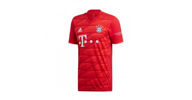 red bayern munich home shirt from 2019-20