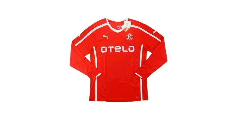 red fortuna dusseldorf home shirt with long sleeves