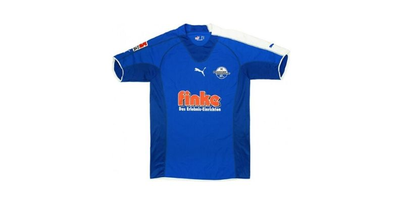 blue match worn paderborn home shirt from 2005-06