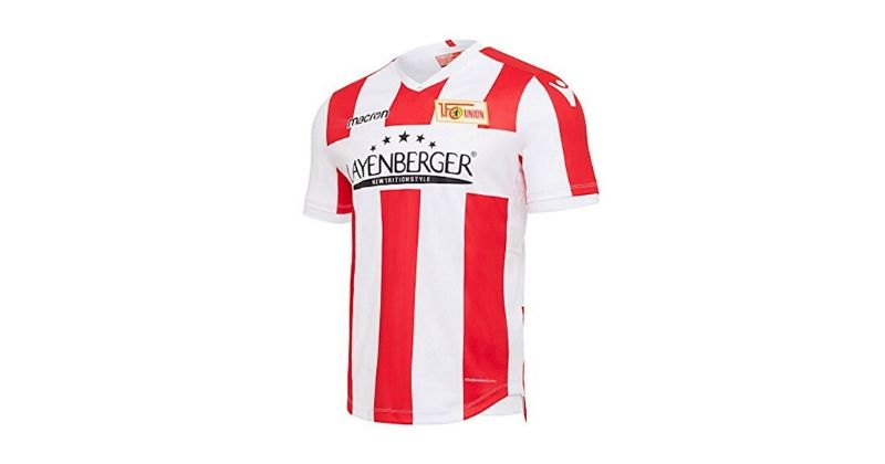 red union berlin home shirt made by macron