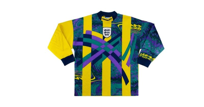 england euro 96 yellow home goalkeeper kit