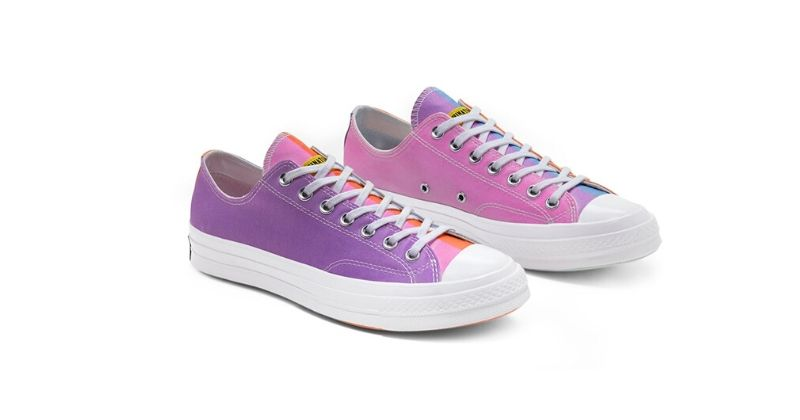brightly coloured converse x chinatown market low cut trainers