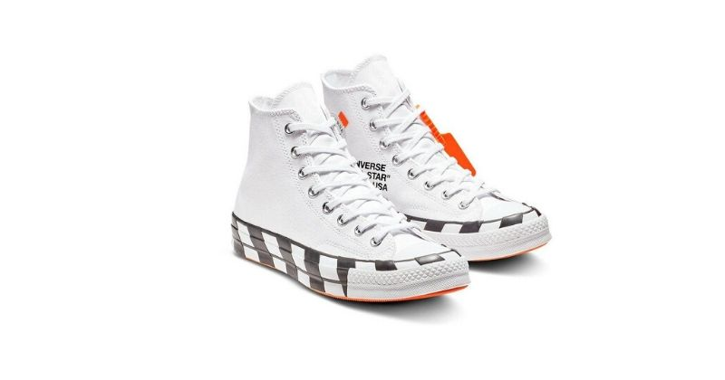 white high top converse x virgil abloh trainers