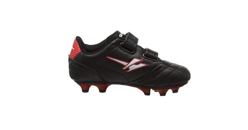 velcro gola aka936 kids football boots in black