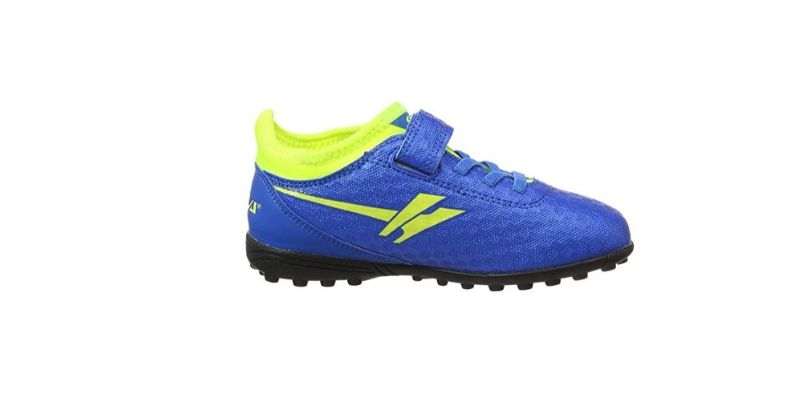velcro gola sparta kids football boots in blue and yellow