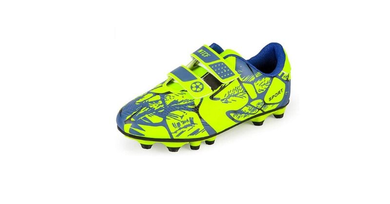 bright yellow and blue gufansi football boots