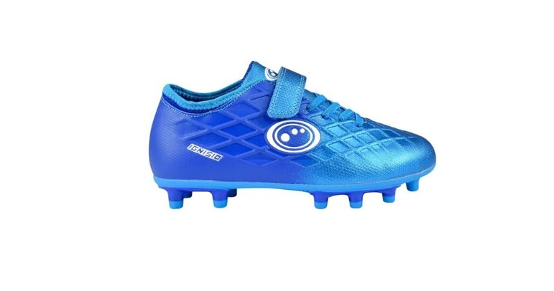 blue optimum junior velcro football boots for kids