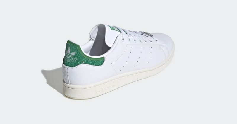 adidas x swarovski stan smith in white and green